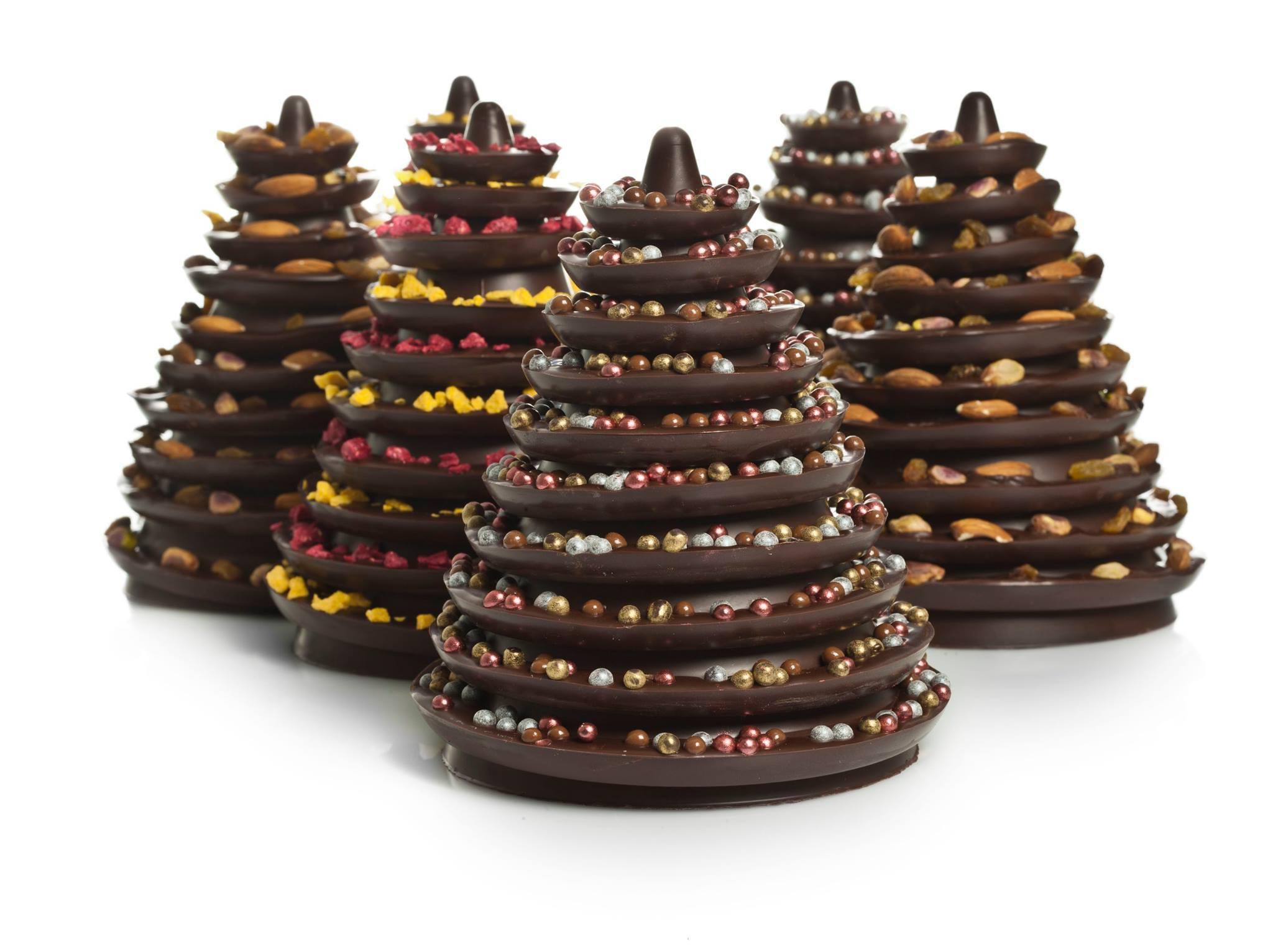 abetos chocolate navidad